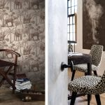elephant-print-wallpaper-and-spotted-chairs