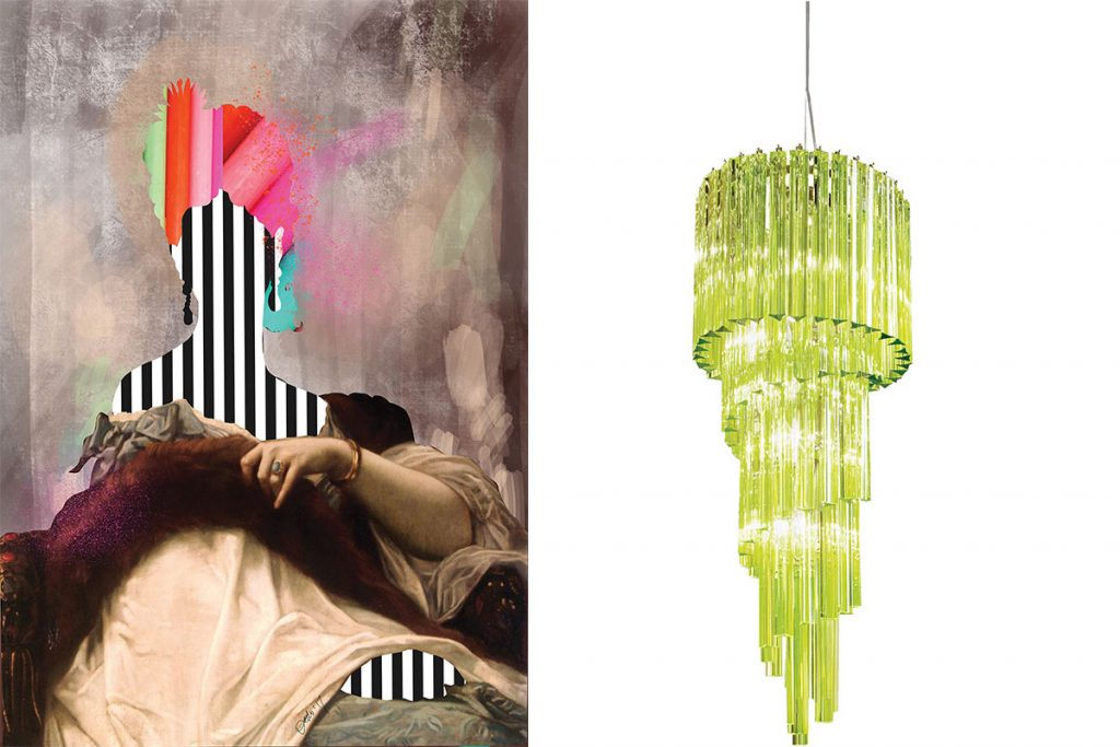audenza-print-and-green-glass-chandelier