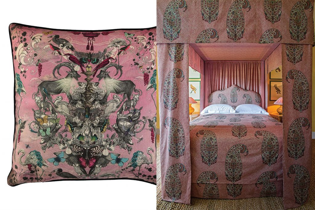 pink-cushion-and-paisley-print-bed-linen