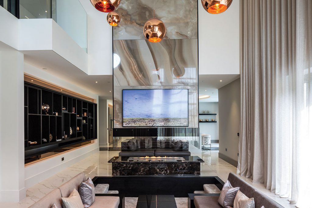 living-room-with-sunken-seating-area