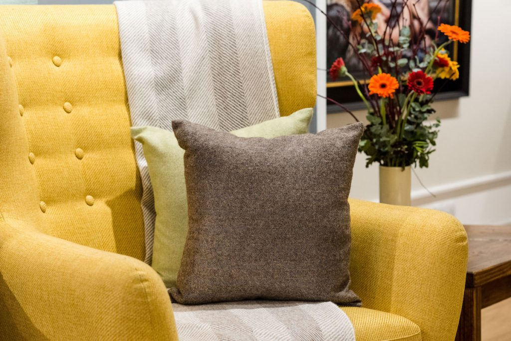 yellow-tweed-sofa-and-tweed-cushions