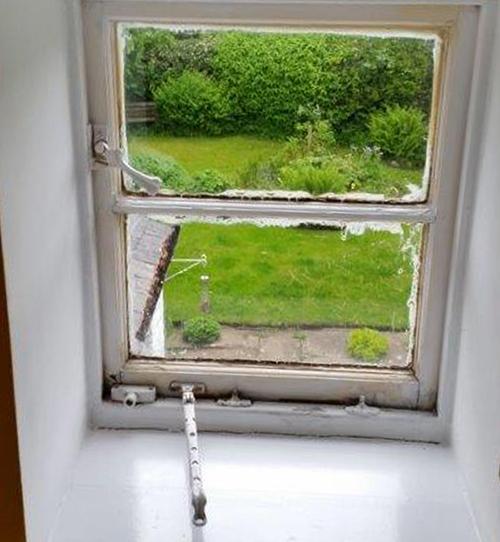 Ventrolla Casement Window BEFORE