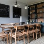 Kennels-Cottage-Scotland-dining-table-with-rattan-chairs