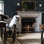 Kennels-Cottage-Scotland-navy-living-room
