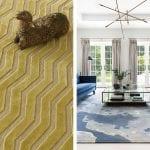 chevron-rug-and-watercolour-print-rug