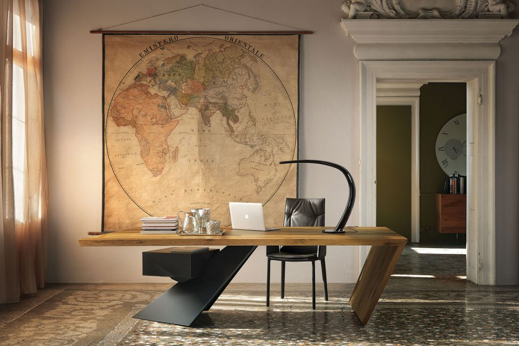 home-office-with-world-map-on-the-wall