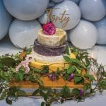 The-cheese-barrel-cake-by-I.-J-Mellis-and-balloons-by-Vivacious-Balloons