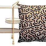 bar-cart-and-patterned-cushion
