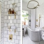 black-and-white-tiled-bathroom-with-gold-fixtures
