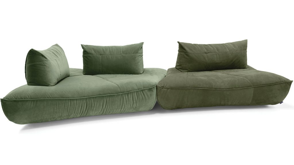 green-sofa-with-cushions