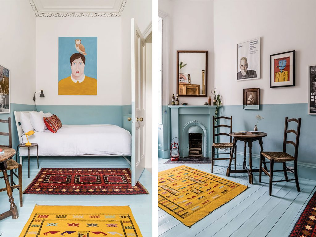An eye for design leads the way in this daringly painted tenement