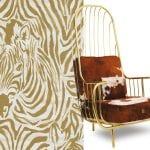 wallpaper-with-zebra-and-cowhide-chair