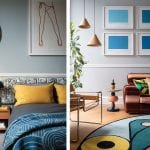 blue-and-mustard-spare-bedroom-and-colourful-living-room
