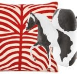 red-zebra-pillow-and-horse-vase