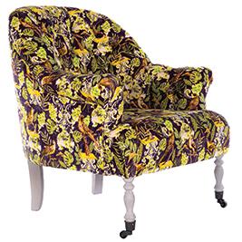 Mindthegap-Furniture-Armchair-The-Transylvanian-Manor-La-Voliere-Floral-Velvet---Portrait-2