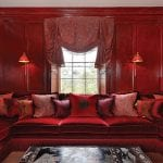red-sitting-room-with-velvet-seating