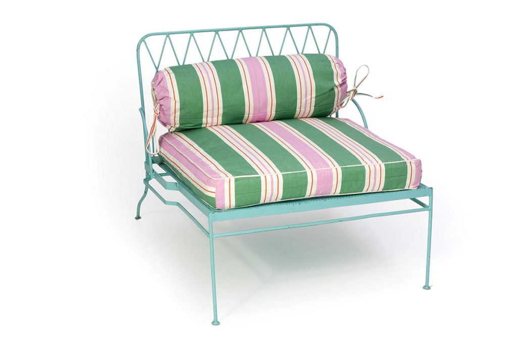 Trendwatch-Purple-and-green-page-45-Palm-Springs-aqua-metal-chair-from-Raj-Tent-Club-£250