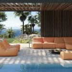 Ligne-Roset-Outdoor-Living-Saparella-armchair-and-sofa-corner-unit