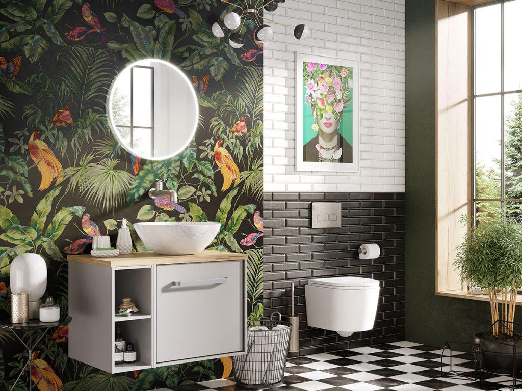 Crosswater-Infinity-bathroom-with-bright-print