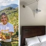 woman-holding-grapes-and-boutique-hotel