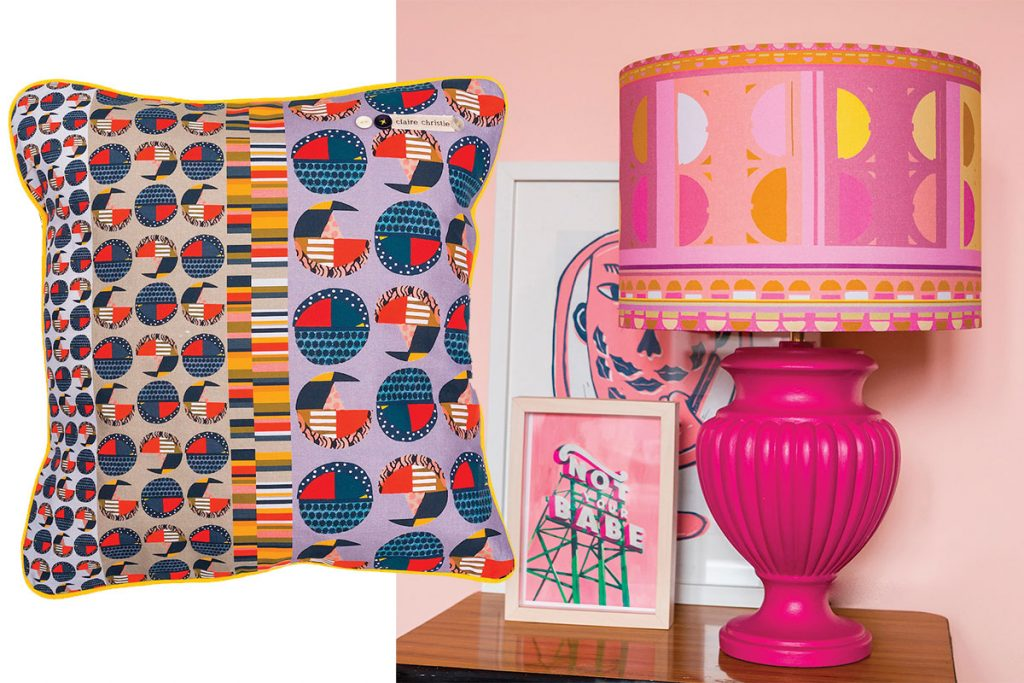 pillow-and-lampshade-with-claire-christie-textiles
