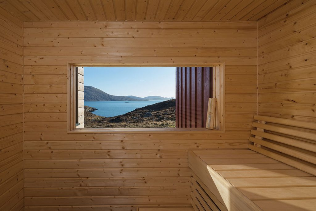 architecture isle of Harris home sauna