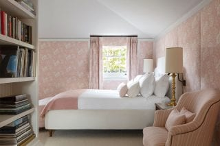 pastel pink bedroom