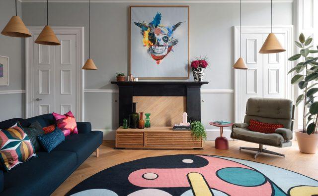 Livingroom-colourful-rug-unusual-print.jpg