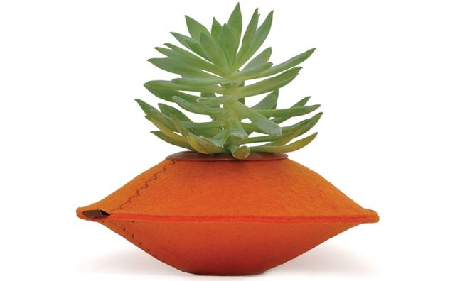 Upcycle-Orange-Felt-Planter-Pod.jpg
