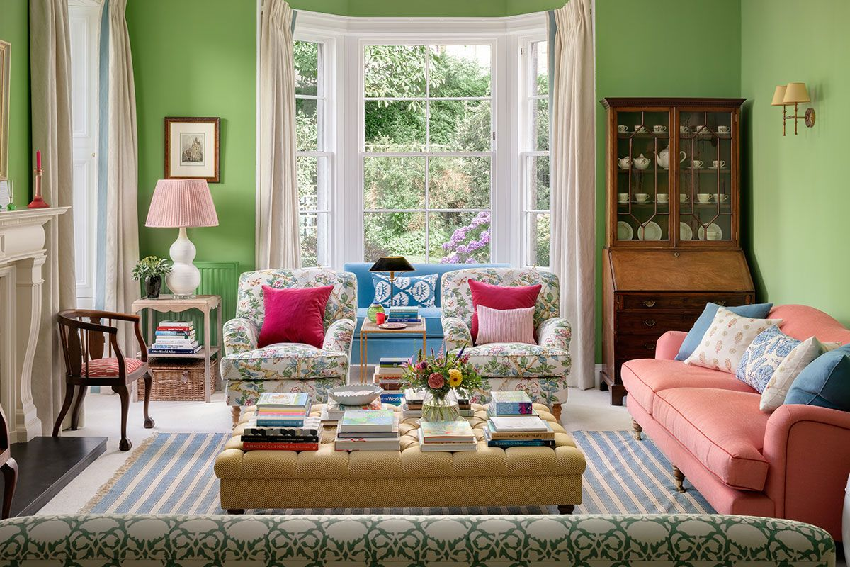 This Fresh Bright Living Room Takes Its Colour Cue From The Garden Homes Interiors Scotland