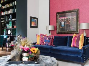 Vivid hues and bold patterns give this penthouse apartment in Glasgow a sense of identity